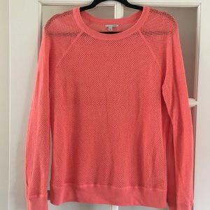 Halogen Open Weave Sweater